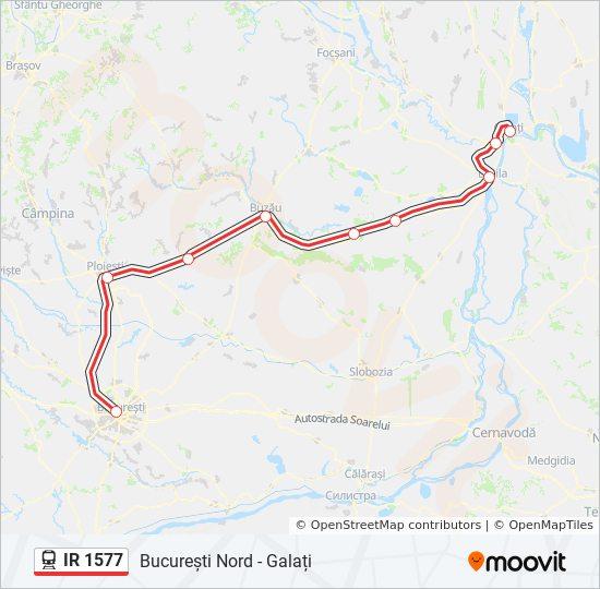 Ir 1577 Ruta Orare Stații și Hărți București Nord Galați