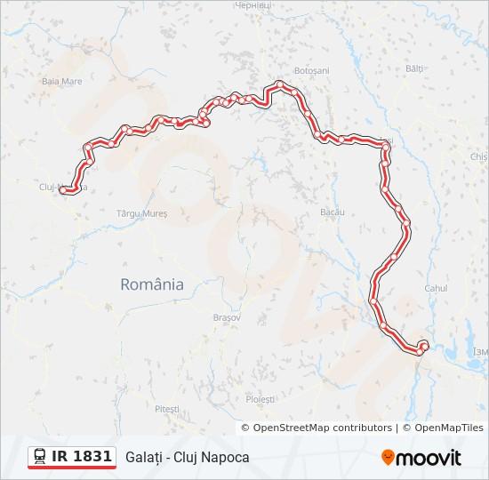 Ir 1831 Ruta Orare Stații și Hărți Galați Cluj Napoca