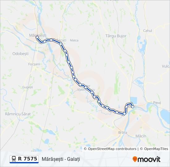 R 7575 Ruta Orare Stații și Hărți Mărășești Galați