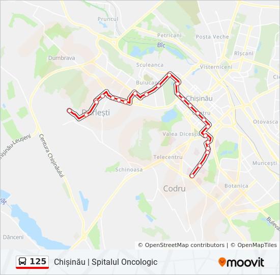 125 Ruta Orare Stații și Hărți Codru Str Turghenev