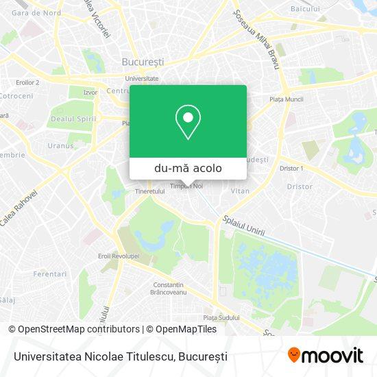Hartă Universitatea Nicolae Titulescu