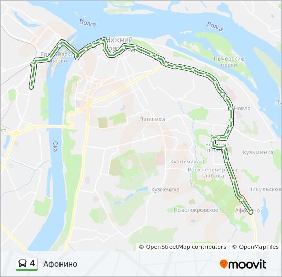 Схема маршрут 132