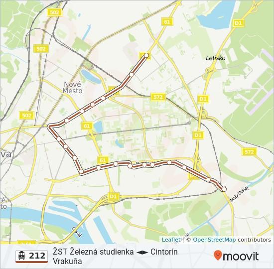 212 Trasa Harmonogram Zastavky Mapy Radiova
