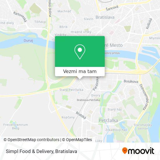 Simpl Food & Delivery mapa