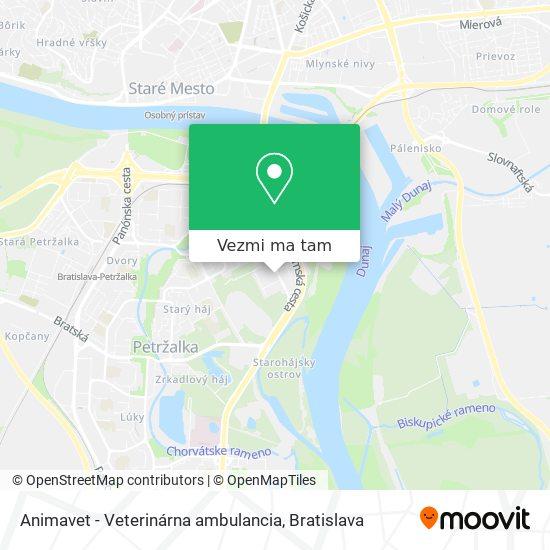 Animavet - Veterinárna ambulancia mapa