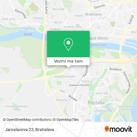 Jaroslavova 23 mapa