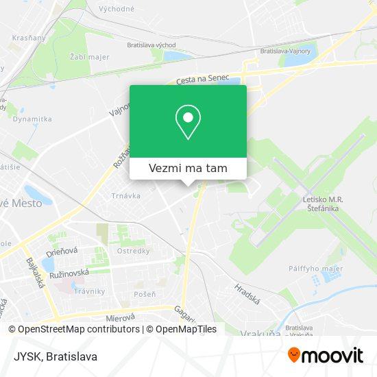 JYSK mapa