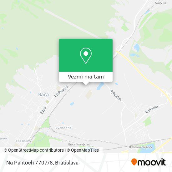 Na Pántoch 7707/8 mapa
