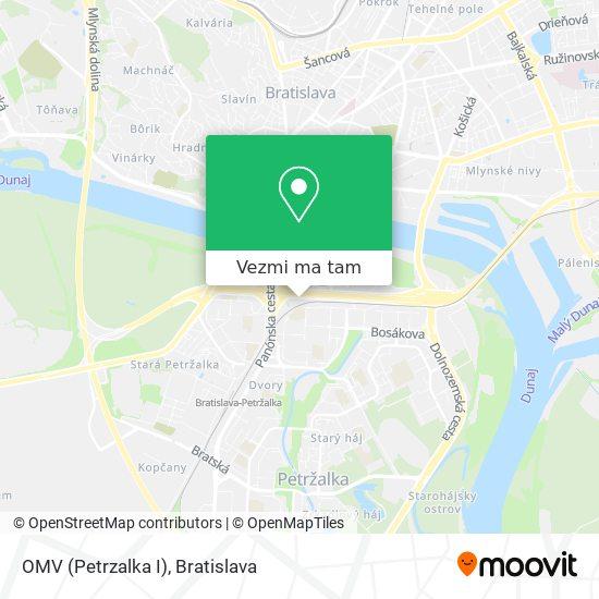 OMV (Petrzalka I) mapa