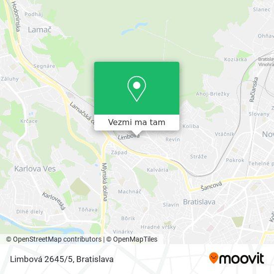 Limbová 2645/5 mapa