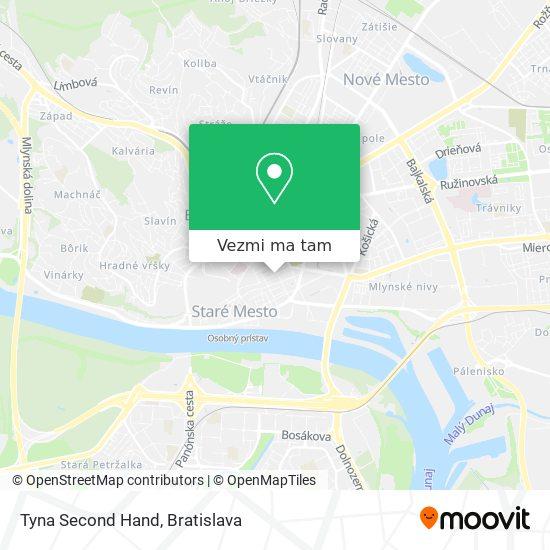 Tyna Second Hand mapa