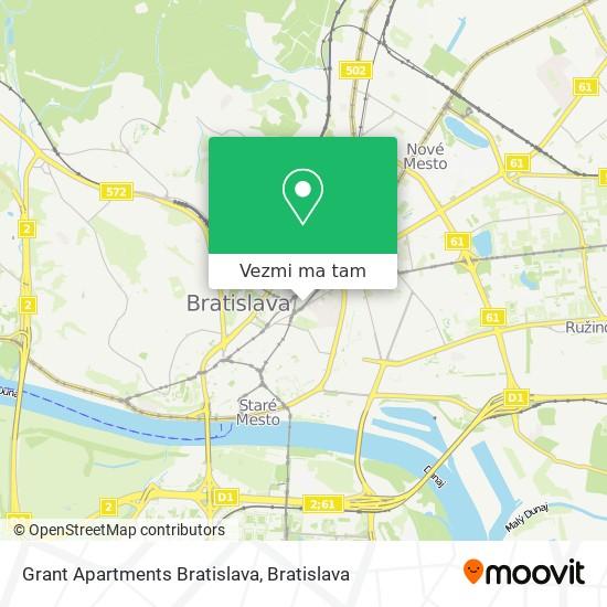 Grant Apartments Bratislava mapa