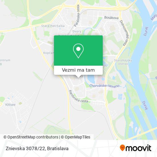 Znievska 3078/22 mapa