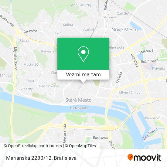 Mariánska 2230/12 mapa