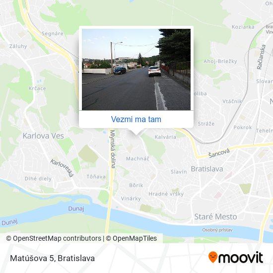 Matúšova 5 mapa