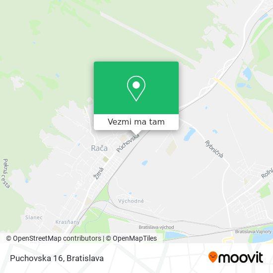 Puchovska 16 mapa