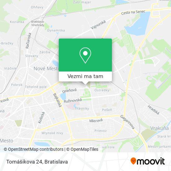Tomášikova 24 mapa