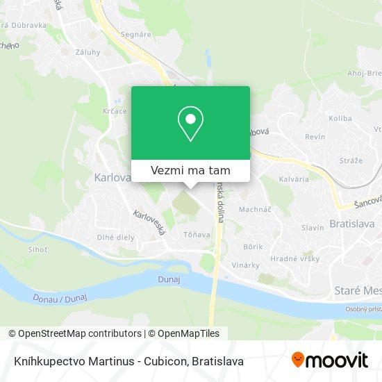Kníhkupectvo Martinus - Cubicon mapa