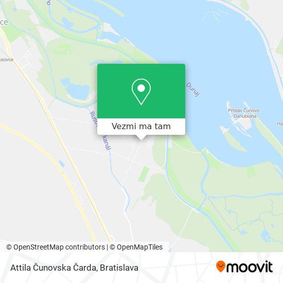 Attila Čunovska Čarda mapa