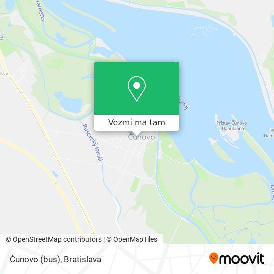 Čunovo (bus) mapa