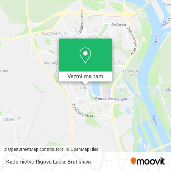 Kadernictvo Rigová Lucia mapa