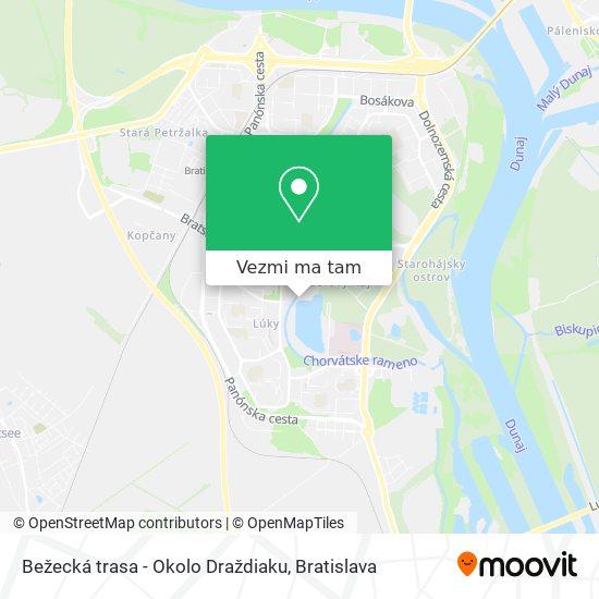 Bežecká trasa - Okolo Draždiaku mapa
