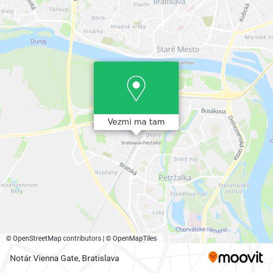 Notár Vienna Gate mapa