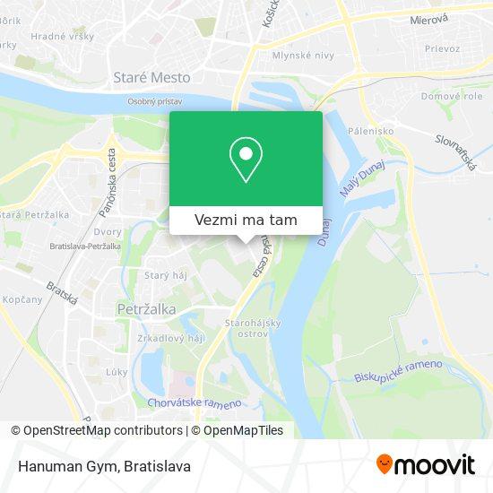 Hanuman Gym mapa