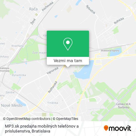 MP3.sk predajňa mobilných telefónov a príslušenstva mapa