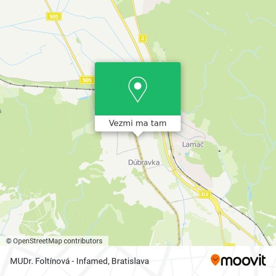 MUDr. Foltínová - Infamed mapa