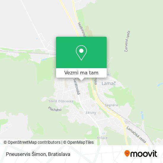 Pneuservis Šimon mapa