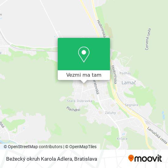 Bežecký okruh Karola Adlera mapa