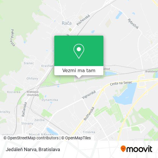 Jedáleň Narva mapa