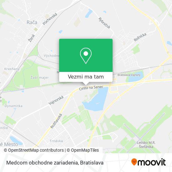 Medcom obchodne zariadenia mapa