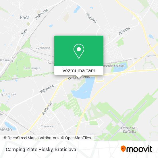 Camping Zlaté Piesky mapa