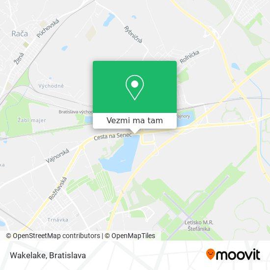 Wakelake mapa