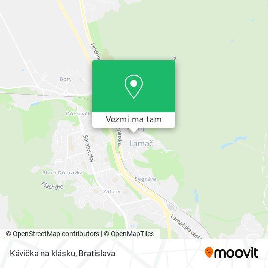 Kávička na klásku mapa