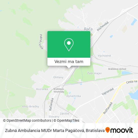 Zubná Ambulancia MUDr Marta Pagáčová mapa