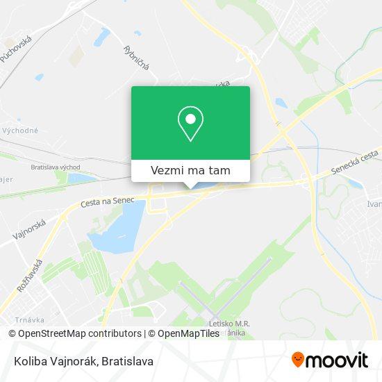 Koliba Vajnorák mapa