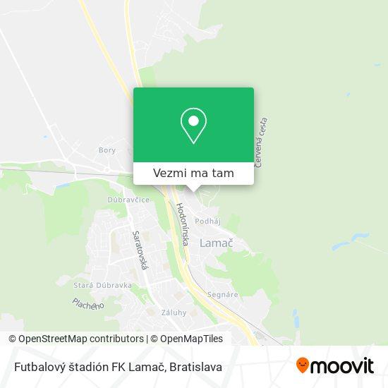 Futbalový štadión FK Lamač mapa