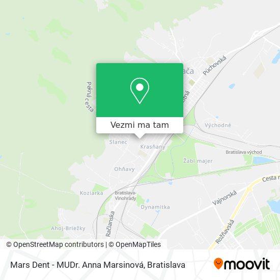 Mars Dent - MUDr. Anna Marsinová mapa