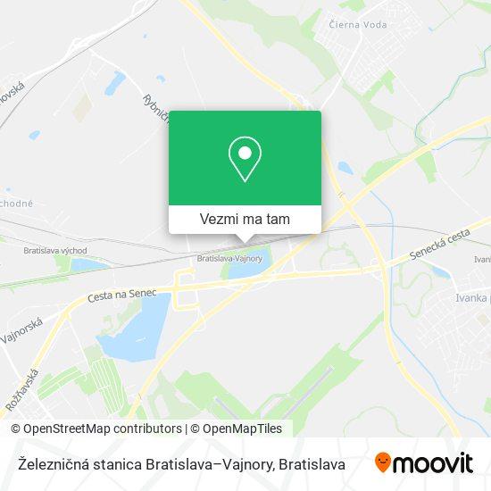 Železničná stanica Bratislava–Vajnory mapa