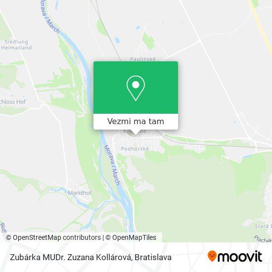 Zubárka MUDr. Zuzana Kollárová mapa