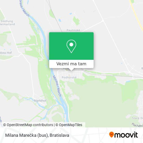 Milana Marečka (bus) mapa