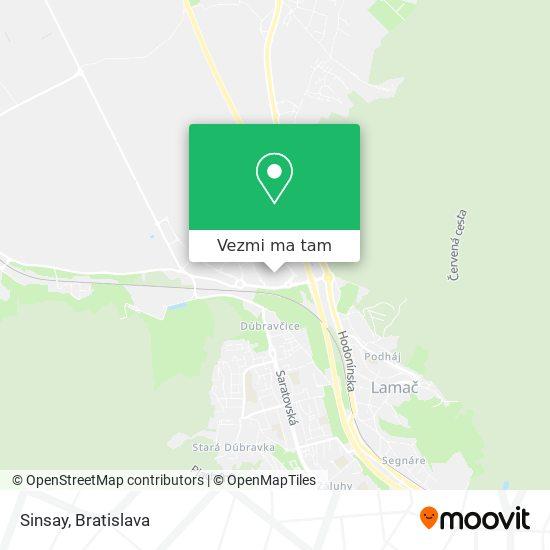 Sinsay mapa