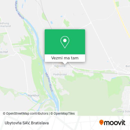 Ubytovňa SAV mapa