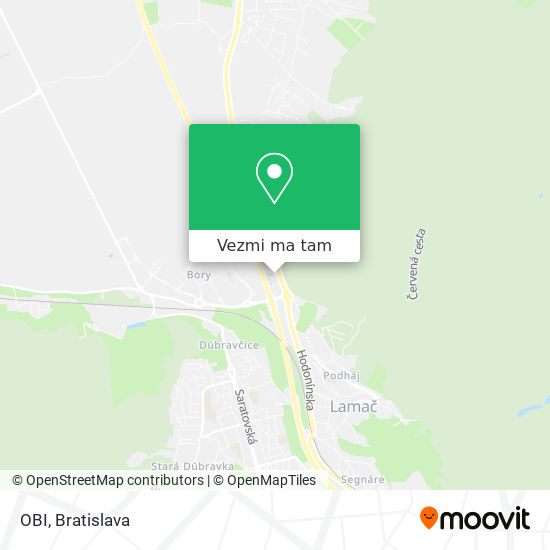 OBI mapa