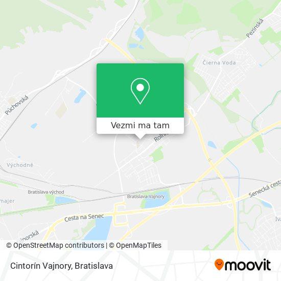 Cintorín Vajnory mapa