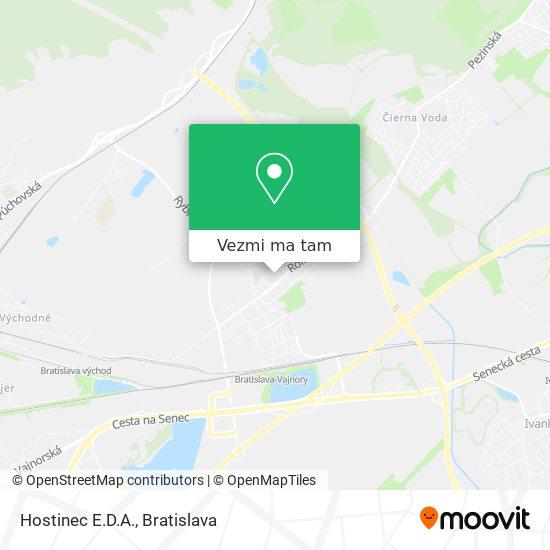 Hostinec E.D.A. mapa