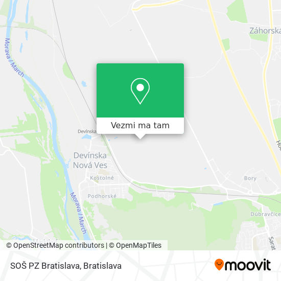 SOŠ PZ Bratislava mapa